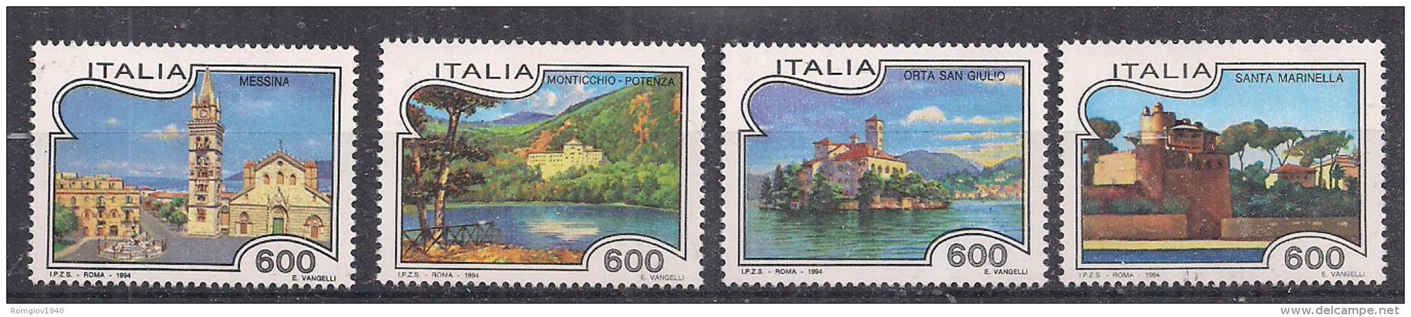 ITALIA 1994  TURISTICA SASS. 2100-2103 MNH XF - 6. 1946-.. Repubblica
