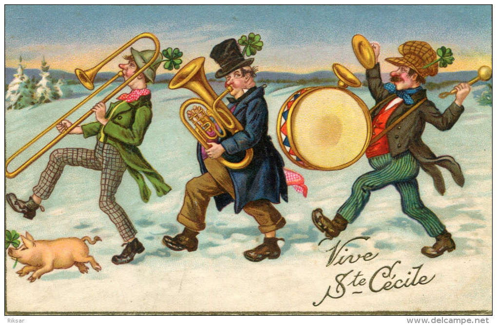 COCHON(SAINTE CECILE) MUSICIEN - Cochons