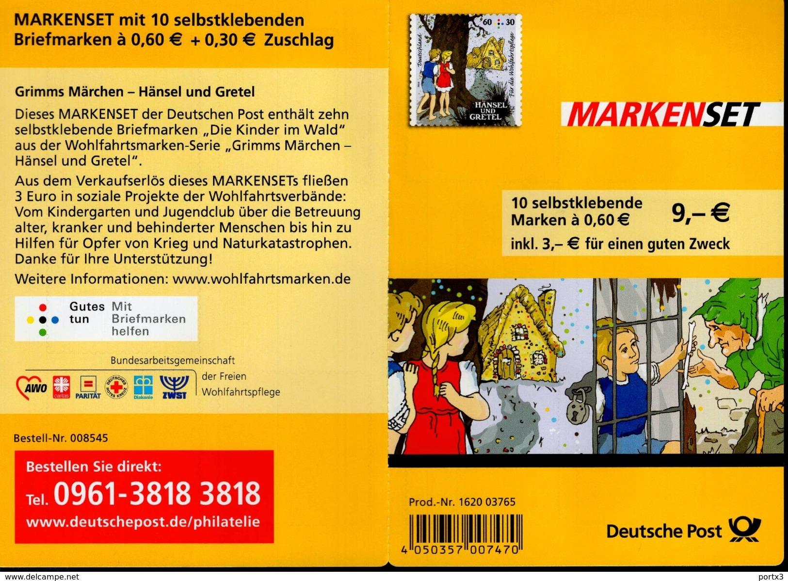 Markenheftchen Bund Postfr. MH 96 Grimms Märchen MNH ** - [7] West-Duitsland