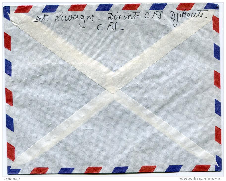 COTE FRANCAISE DES SOMALIS LETTRE PAR AVION DEPART DJIBOUTI 15-11-1960 POUR LA FRANCE - Côte Française Des Somalis (1894-1967)