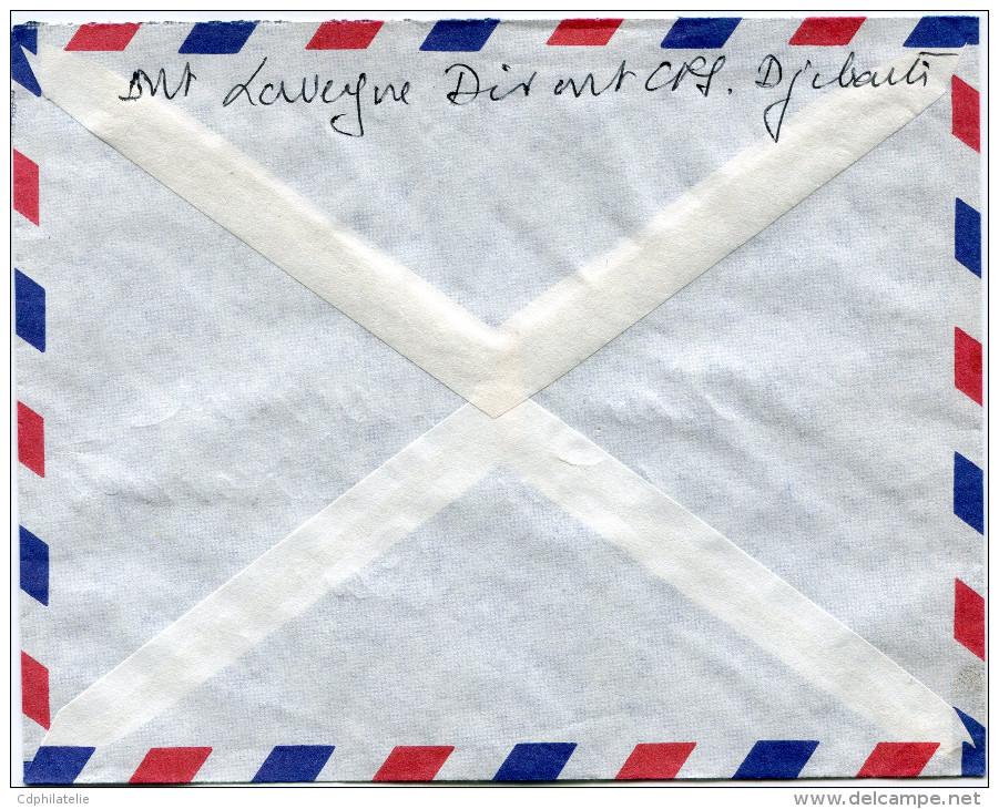 COTE FRANCAISE DES SOMALIS LETTRE PAR AVION DEPART DJIBOUTI 11-1-1963 POUR LA FRANCE - Lettres & Documents