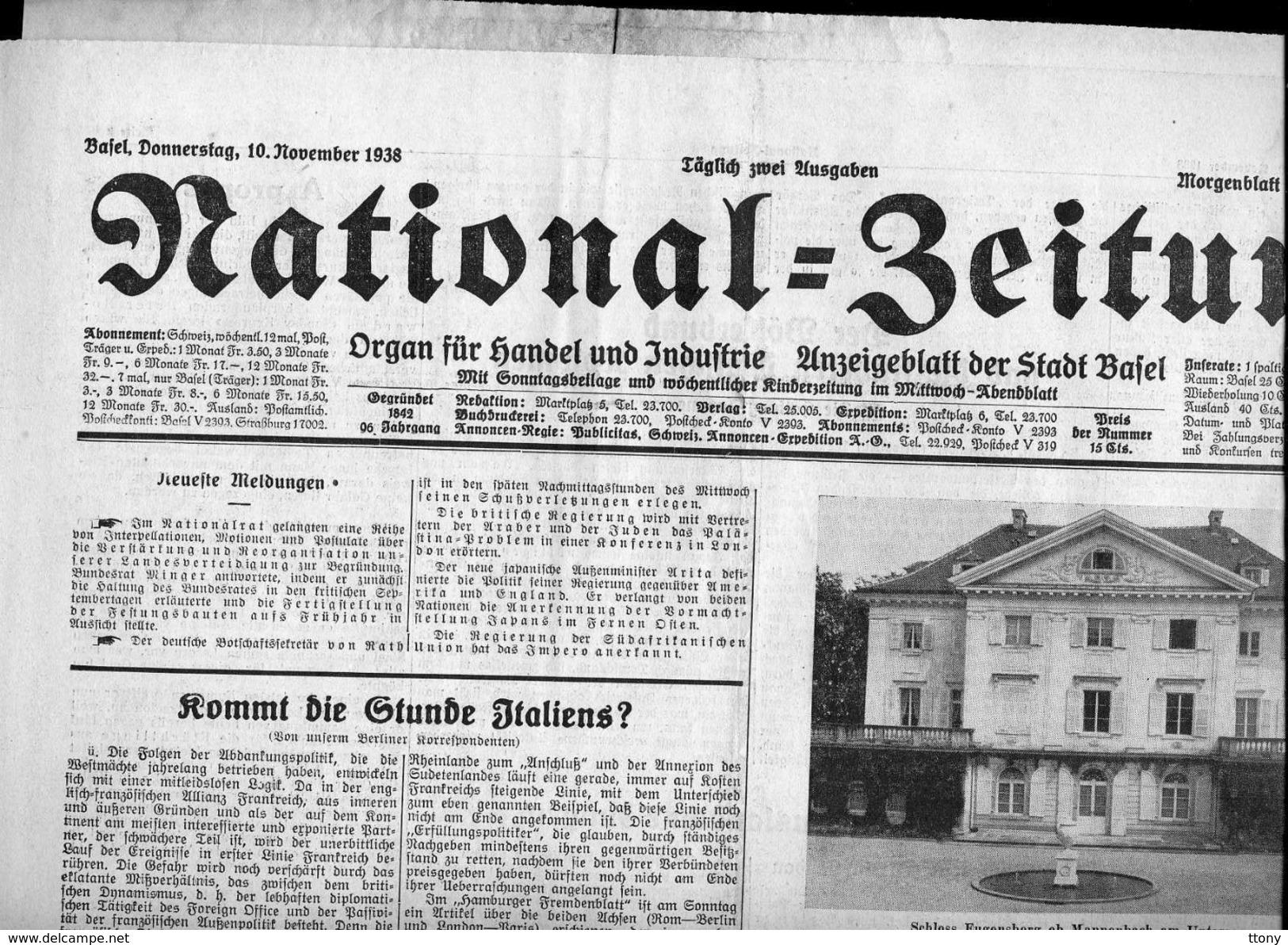 8 Journaux    D'époque  Pas Une Réédition : National Seitung  1938 - Revues & Journaux