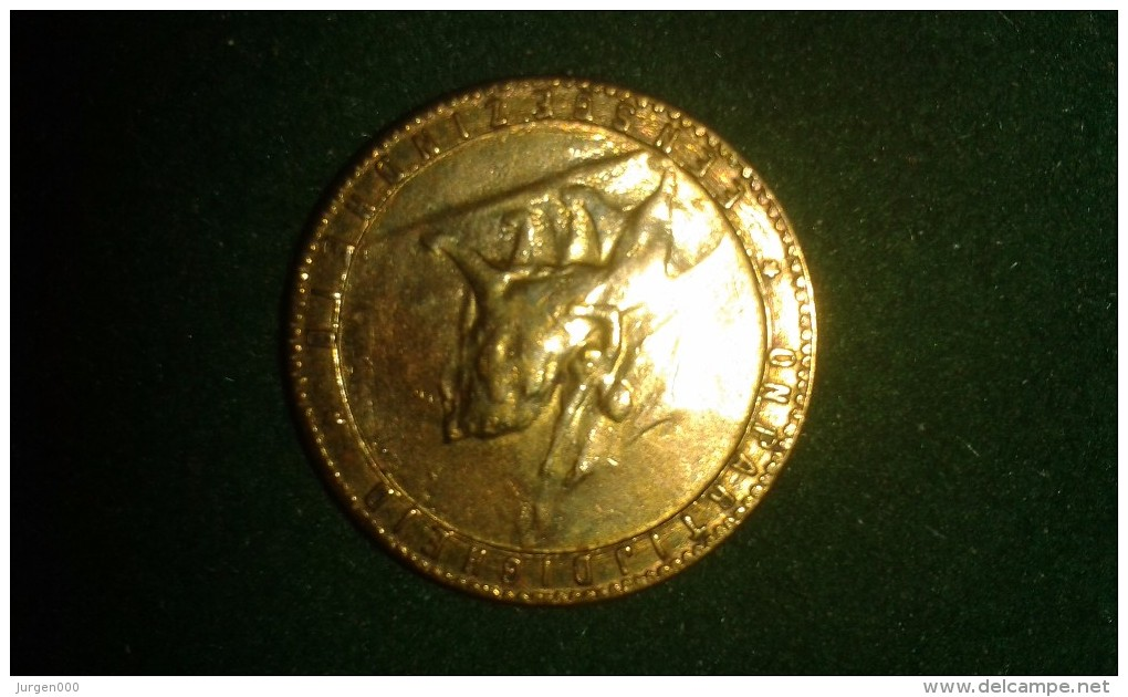 1 April 1935, De Dag, Onpartijdigheid, Eensgezindheid, 4 Gram (med322) - Pièces écrasées (Elongated Coins)