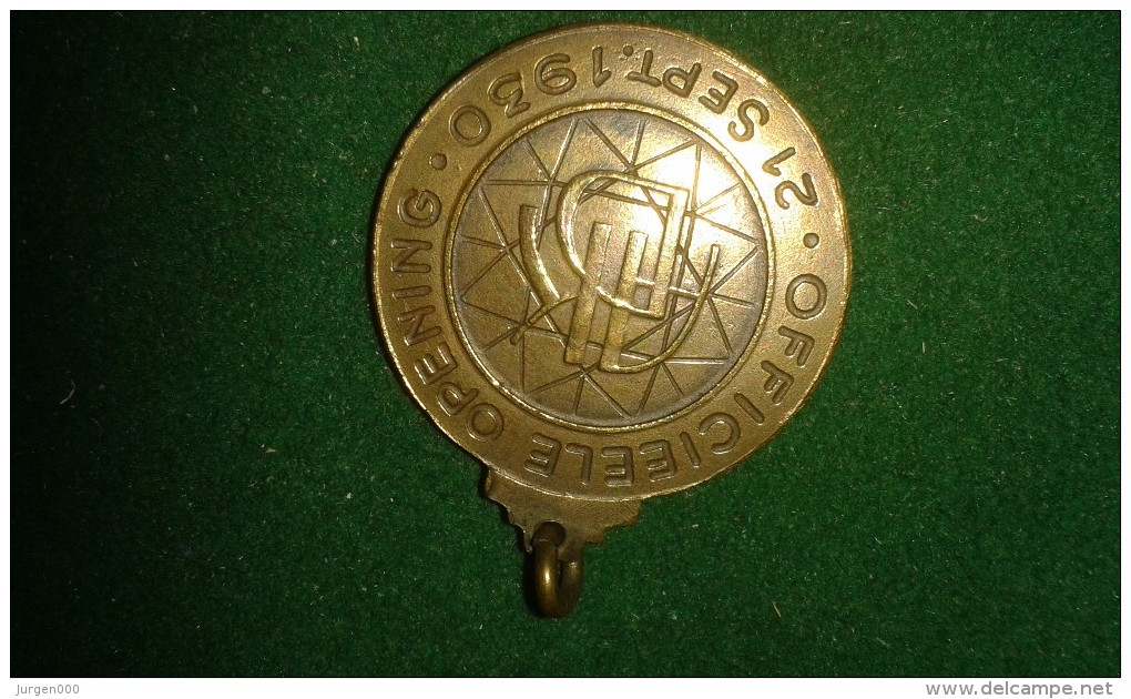 1930, Officieele Opening Antwerpsche Diamantkring, 12 Gram (med326) - Pièces écrasées (Elongated Coins)