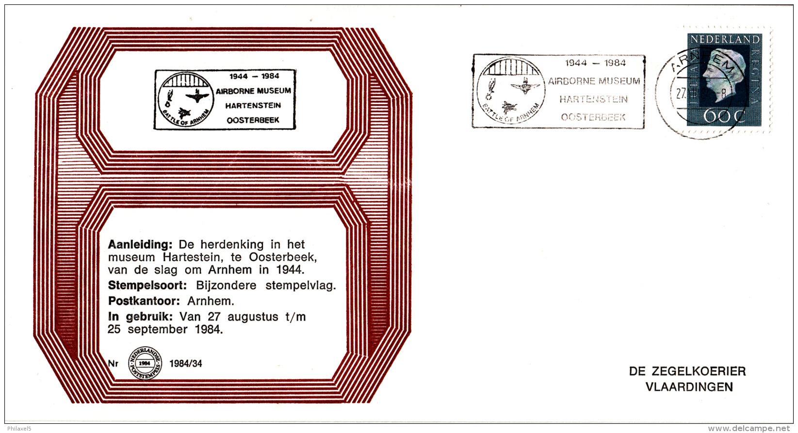 Nederland - Zegelkoerier Nederlandse Poststempels - 1944-1984 - Airborne Museum Hartenstein Oosterbeek - Nr. 1984/34 - Marcofilie - EMA (Print Machine)