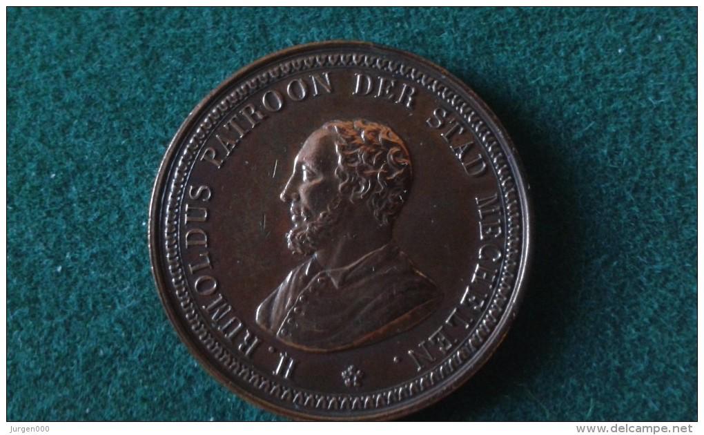 1825, Rumoldus, Patroon Der Stad Mechelen, Jubelfeest, 14 Gram (med336) - Pièces écrasées (Elongated Coins)