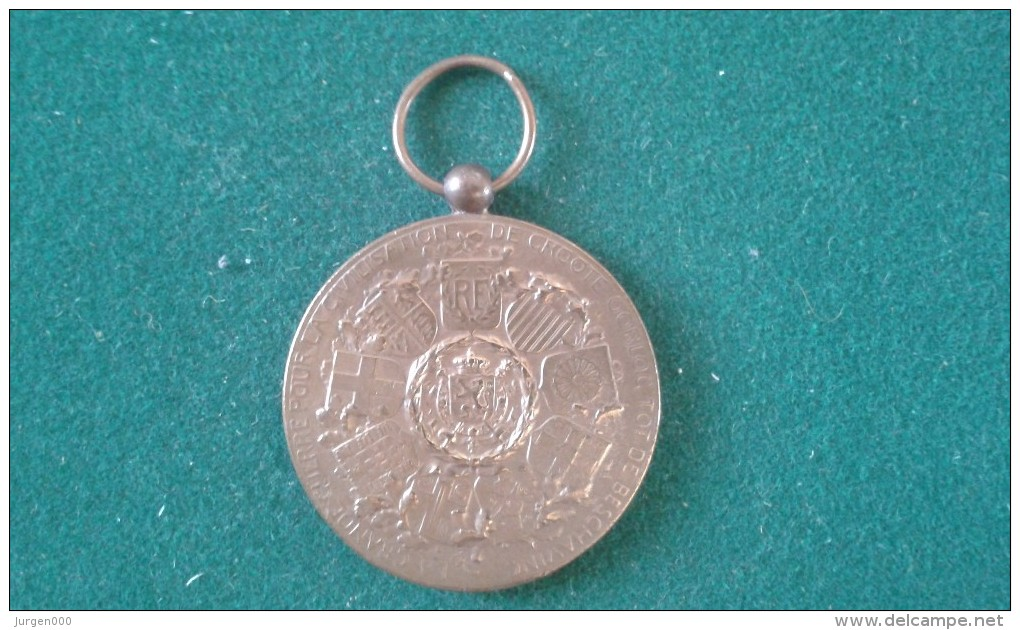 De Groote Oorlog Tot De Beschaving, La Grande Guerre Pour La Civilisation, 24 Gram (med344) - Monedas Elongadas (elongated Coins)