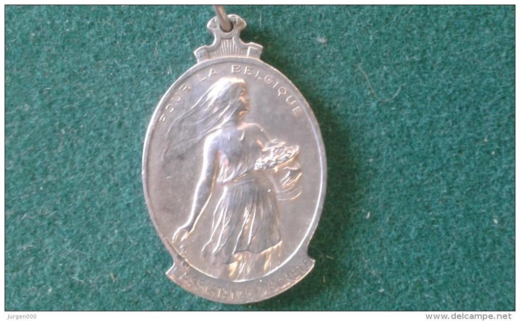 1914-1915, Souvenir De Nos Annees Terribles, 6 Gram (med348) - Monedas Elongadas (elongated Coins)