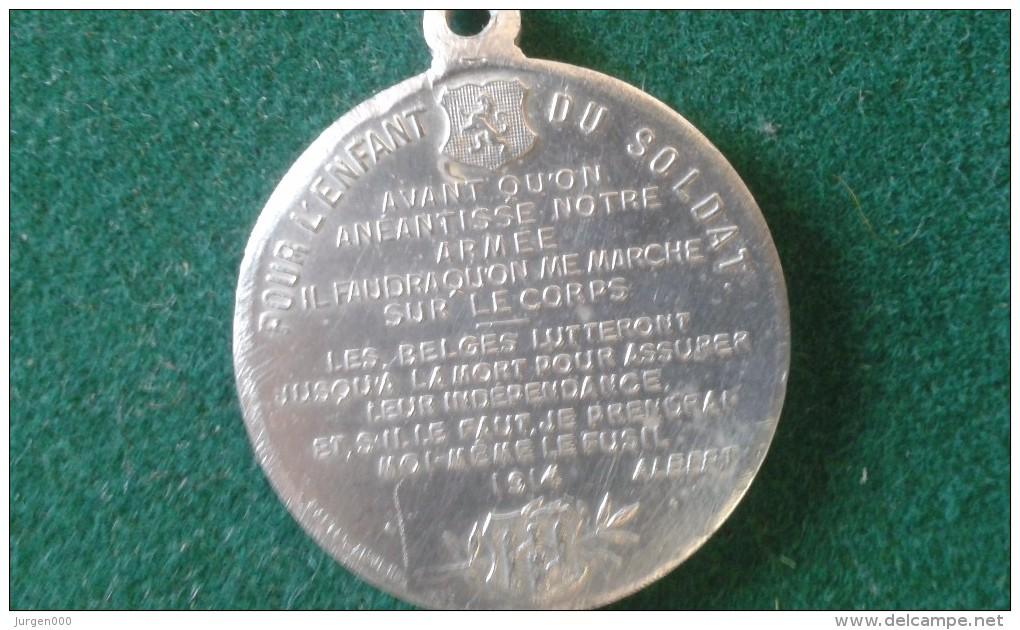 1914, Pour L'enfant Du Soldat, 4 Gram (med350) - Pièces écrasées (Elongated Coins)