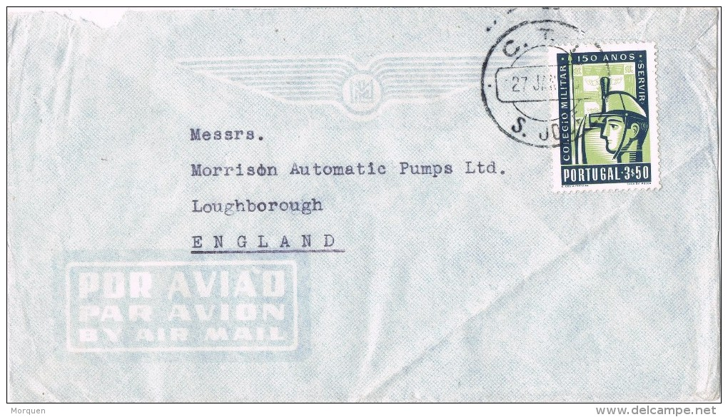 19880. Carta Aerea SAN JOSE / LISBOA (Portugal) 1965. - 1910-... República