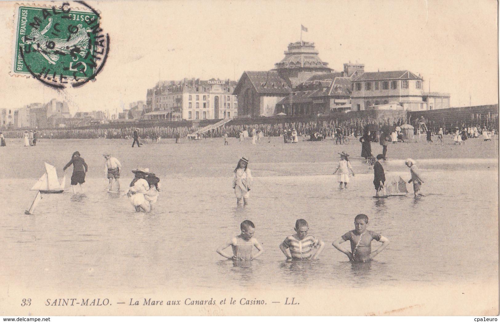 SAINT MALO   ( 35 ) La Mare Aux Canards Et Le Casino - Saint Malo