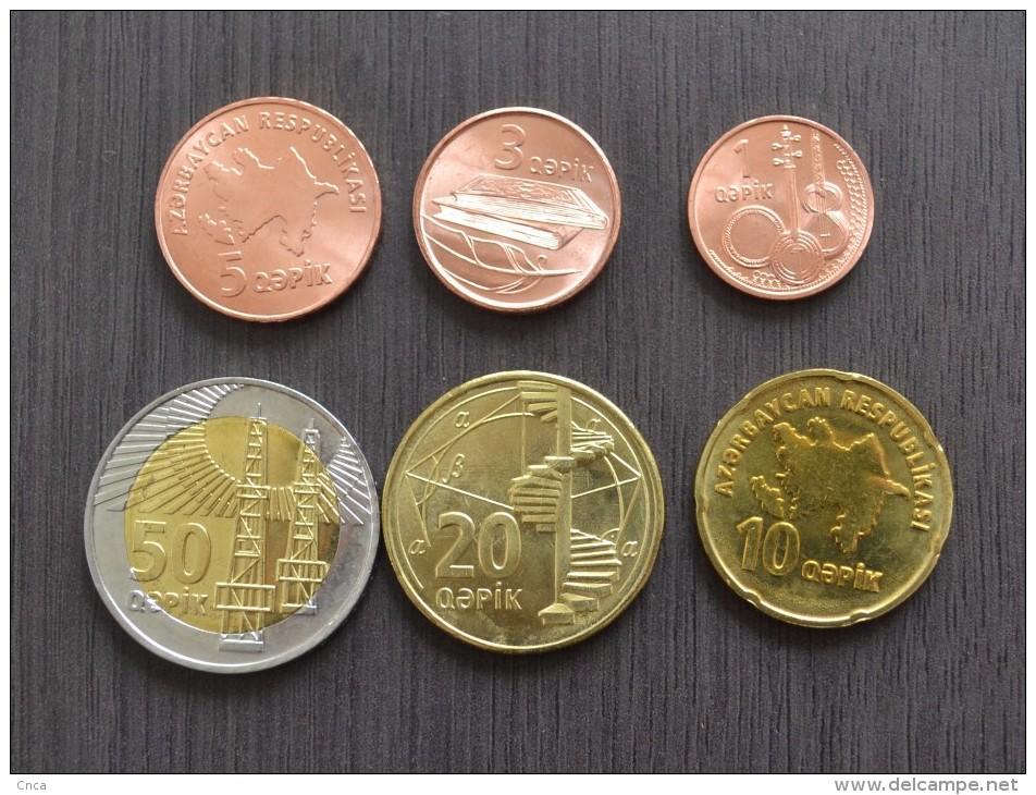 AZERBAIJAN SETS OF 6 COINS , 1;3;5;10;20;50 Qəpik . UNC. ASIA COINS . - Azerbaïdjan
