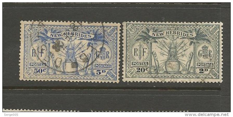 VENTE LOT  No  2 2 1 3 0       TIMBRES De COLLECTION  Nouvelles Hebrides Valeur Pounds 5 - Collections