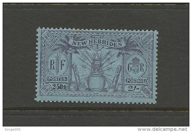 VENTE LOT  No  2 2 1 3 3       TIMBRES De COLLECTION  Nouvelles Hebrides Valeur Pounds 6 - Collections