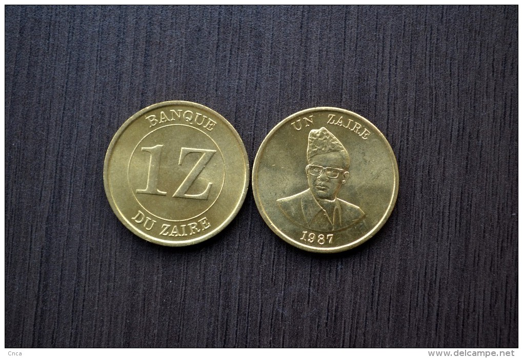 Zaire Coin 1 Zaire 1987 . KM13 . 1PCS . Africa Coin, UNC. - Zaire (1971-97)