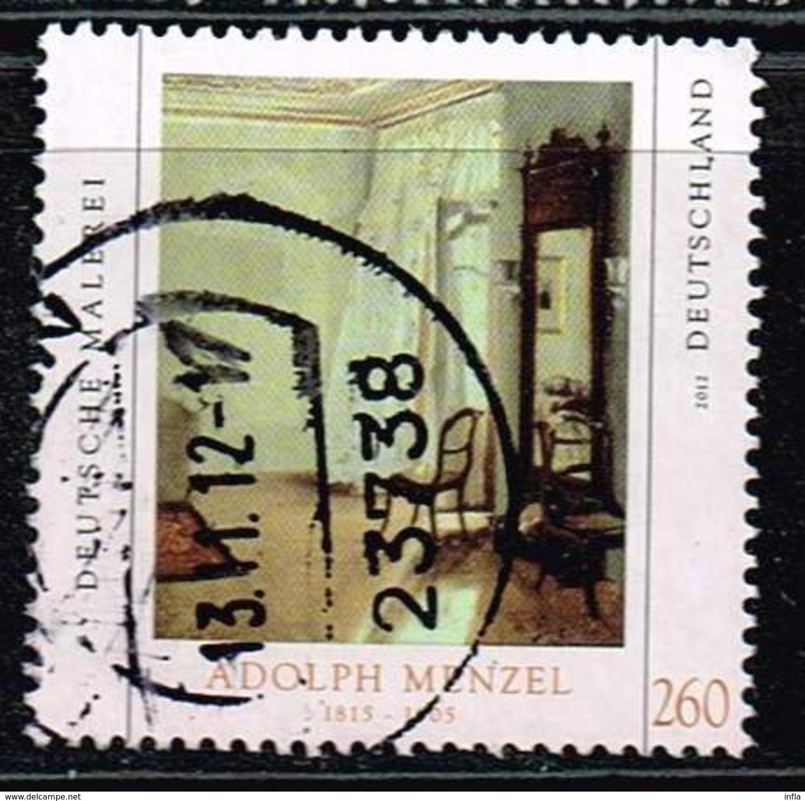 Bund 2012, Michel#  2937 O 'Adolph Menzel - BRD