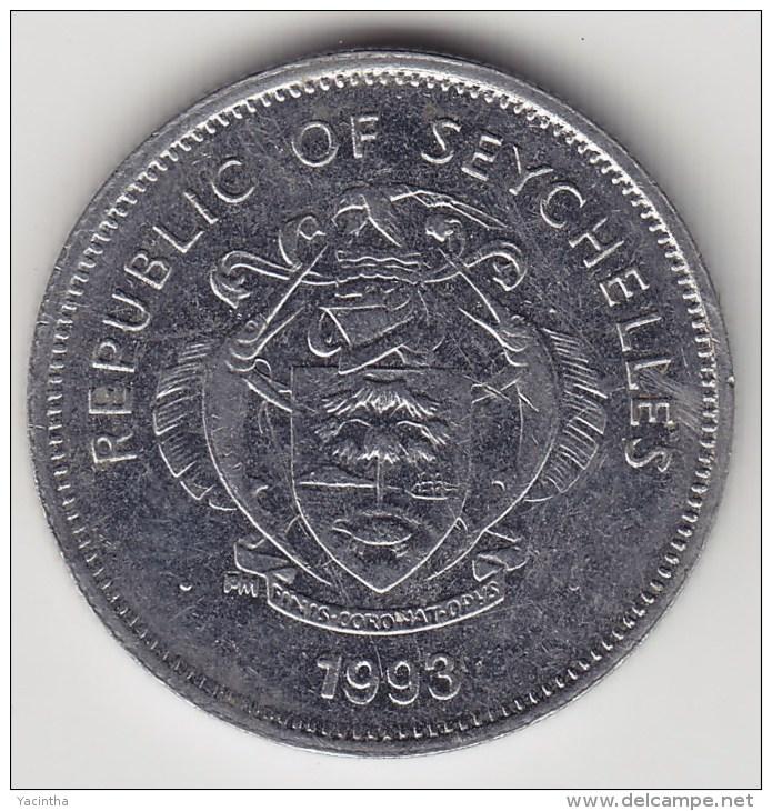 @Y@    Seychellen 25 Cents  1993    (3485) - Seychelles