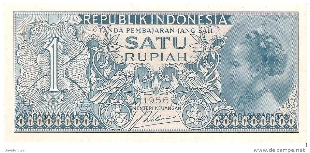 Indonesia - Pick 74 - 1 Rupiah 1956 - Unc - Indonésie