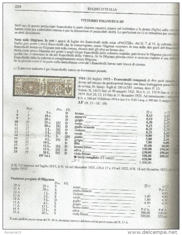 SPC13---   REGNO D'ITALIA,  PACCHI POSTALI,   N° 10A,  FILIGRANA SINISTRA,  GRANDE VARIETA' RARRISSIMA,  CATALOGO C.E.I. - Pacchi Postali