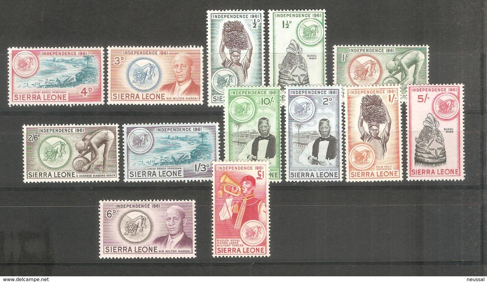 Serie Nº 194/206 Sierra Leone - Sierra Leona (...-1960)