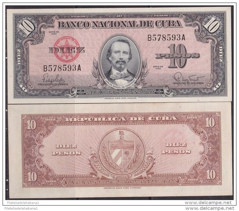 1960-BK-139 CUBA 1960 10$ CARLOS MANUEL CESPEDES XF. - Cuba