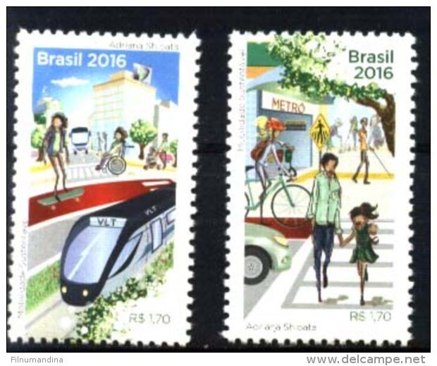 BRESIL BRASIL BRAZIL 2016 TRANSPORT,TRAIN METRO MNH - Brazil