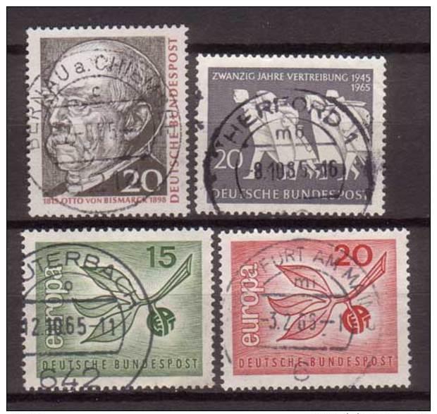 BRD , 1965 , Mi.Nr. 463 / 479 / 483 / 484 O - [7] Federal Republic