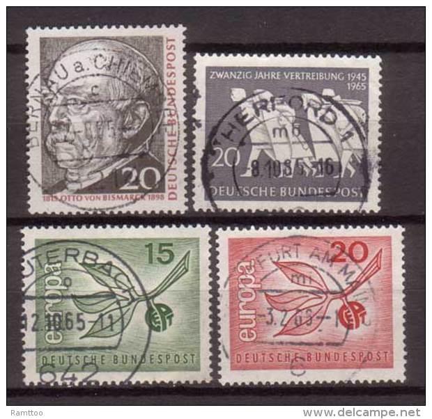 BRD , 1965 , Mi.Nr. 463 / 479 / 483 / 484 O - BRD
