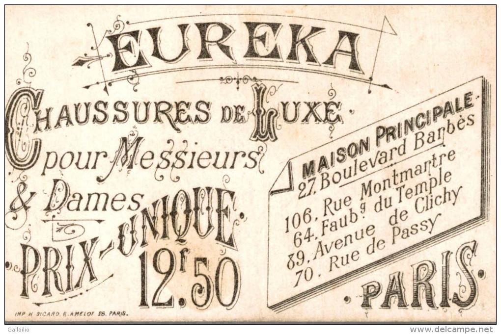 CHROMO CHAUSSURE EUREKA A PARIS  GARDE NATIONALE ARTILLEUR LITHO SICARD - Altri