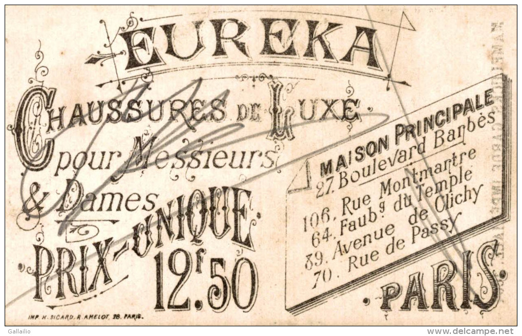 CHROMO CHAUSSURE EUREKA A PARIS  MAMELUCKS GARDE IMPERIALE LITHO SICARD - Altri