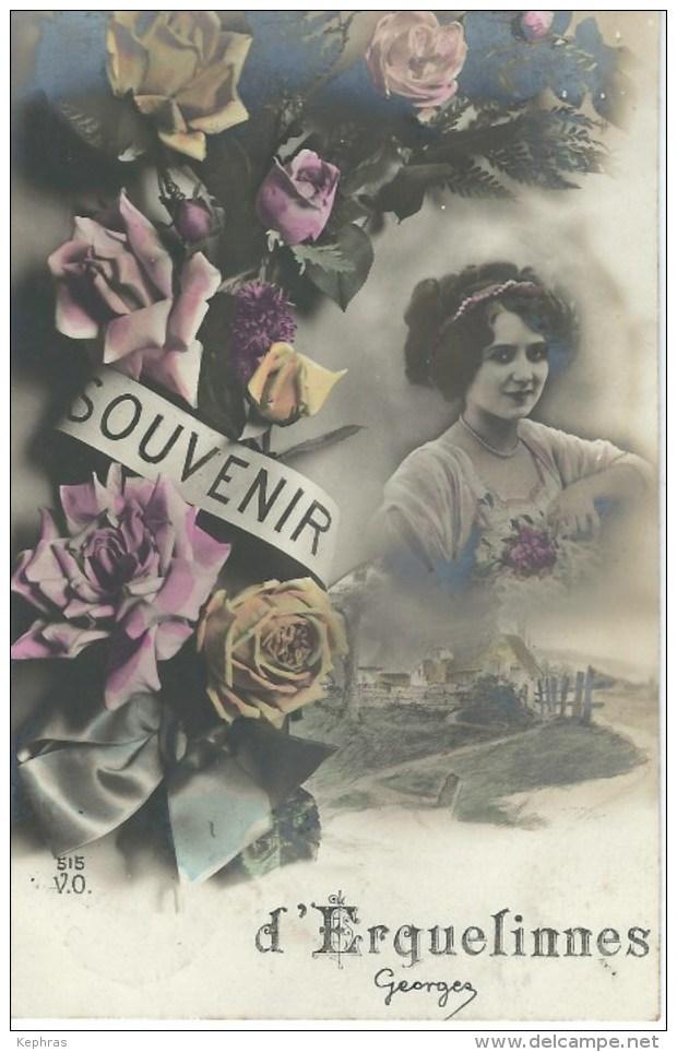Souvenir D'ERQUELINNES - Cachet De La Poste 1912 - Erquelinnes