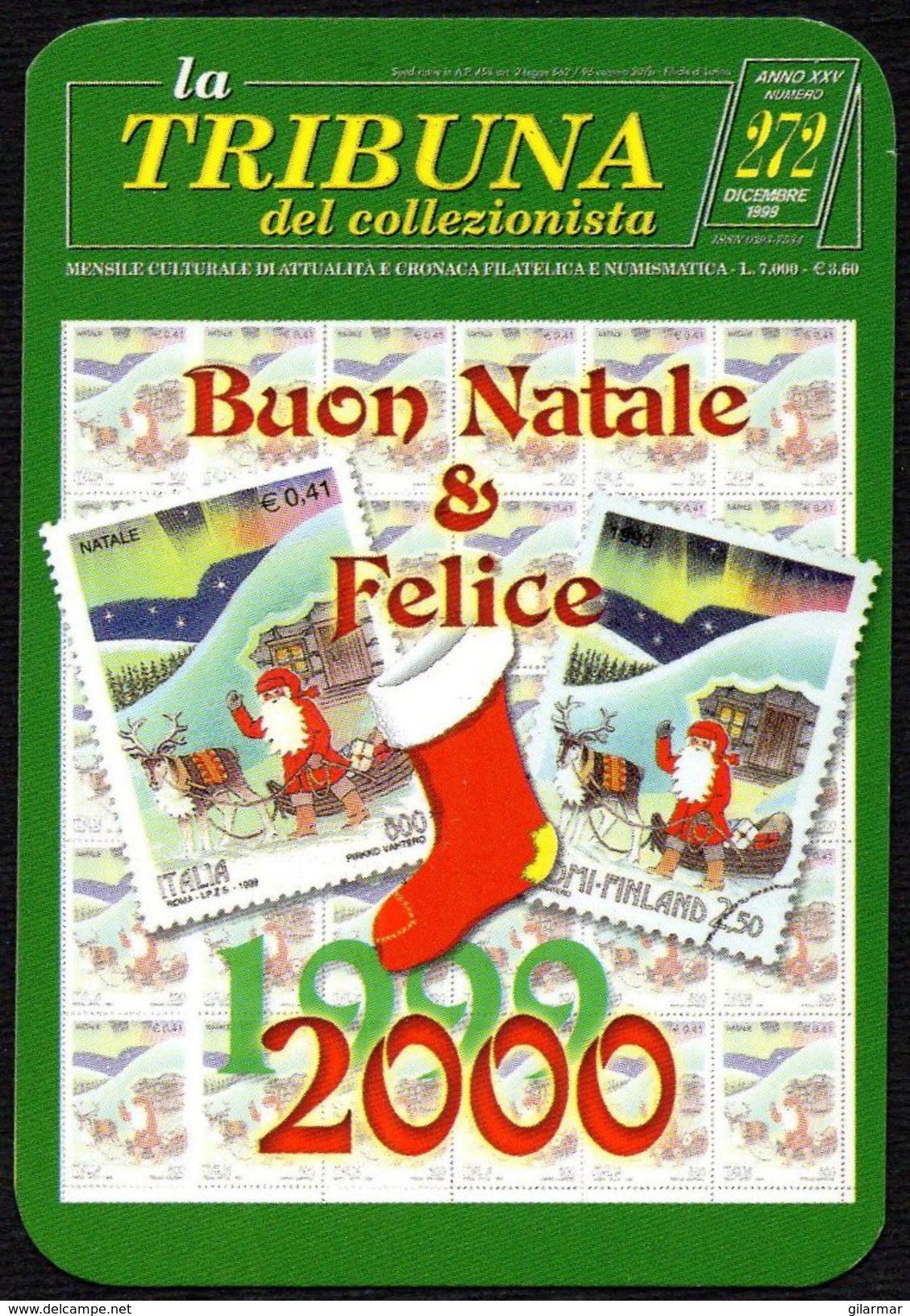 ITALIA 2000 - CALENDARIO TASCABILE - LA TRIBUNA DEL COLLEZIONISTA - BUON NATALE 1999 E FELICE 2000 - Formato Piccolo : 1991-00