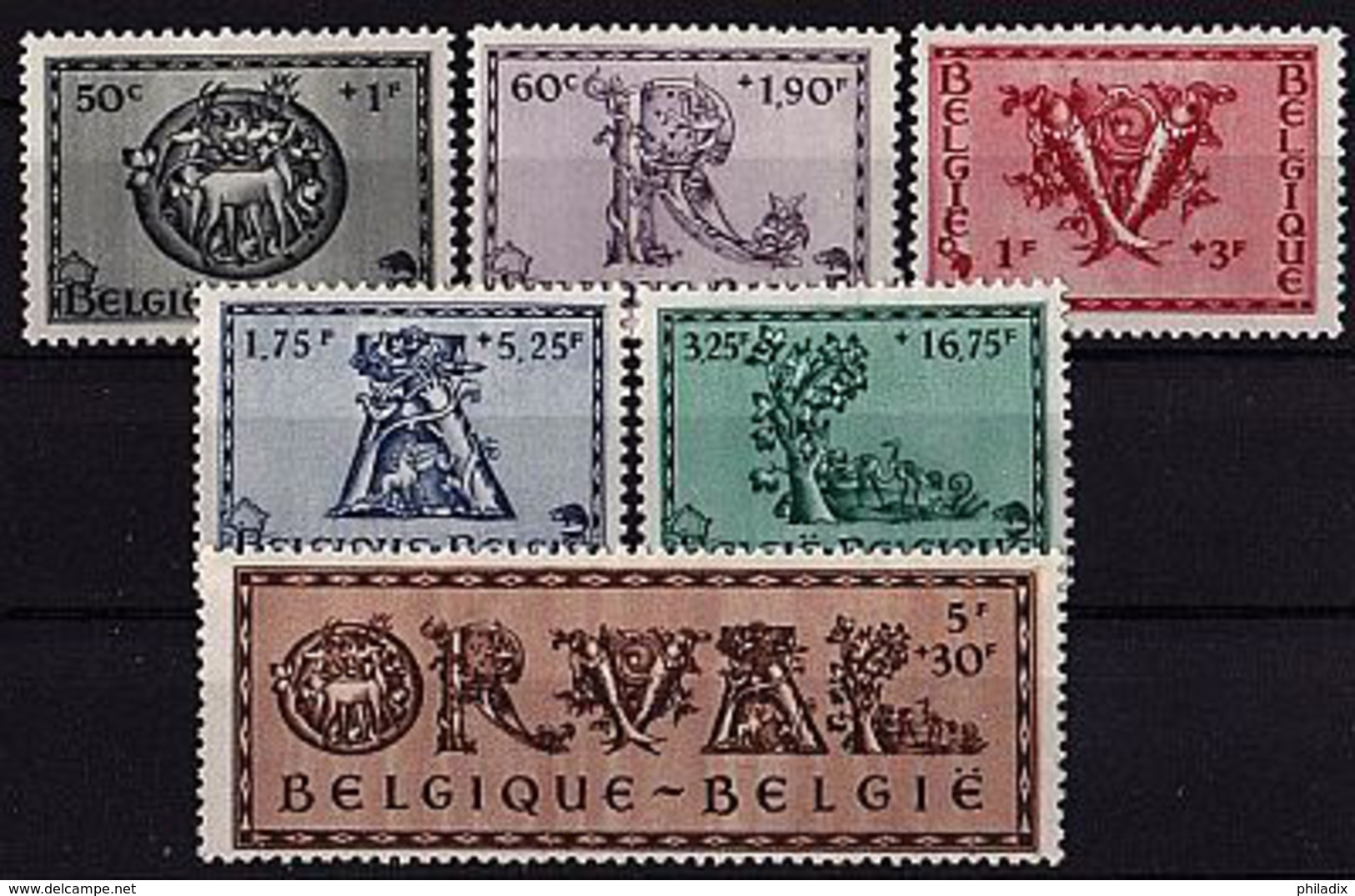 BELGIEN Mi. Nr. 642-647 * (A-3-4) - Belgien