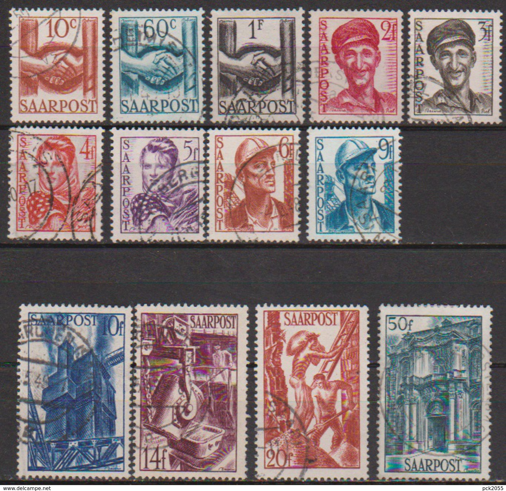 Saarland1948 MiNr.239 - 251   O Gest Wiederaufbau Des Saarlandes ( D 3824 ) Günstige Versandkosten - Used Stamps