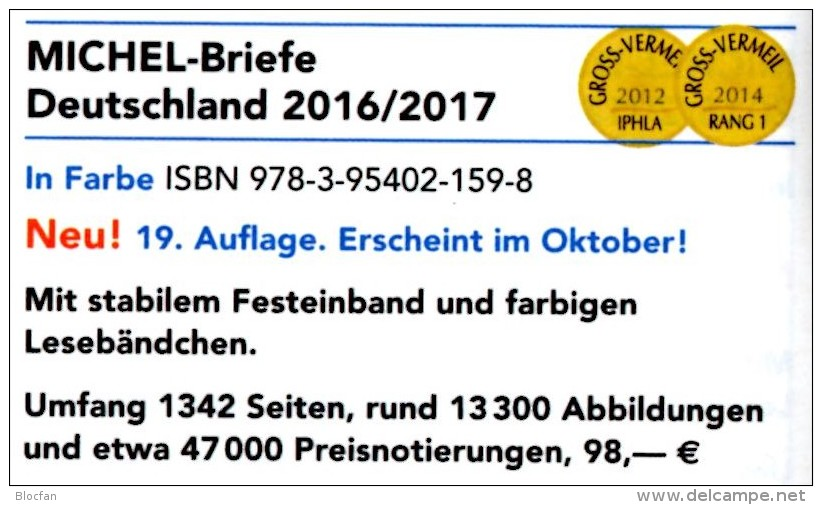 Briefe Katalog MlCHEL Deutschland 2016/2017 New 98€ Handbook With Special Cover + FDC Cards Letters Catalogue Of Germany - Tarjetas Telefónicas