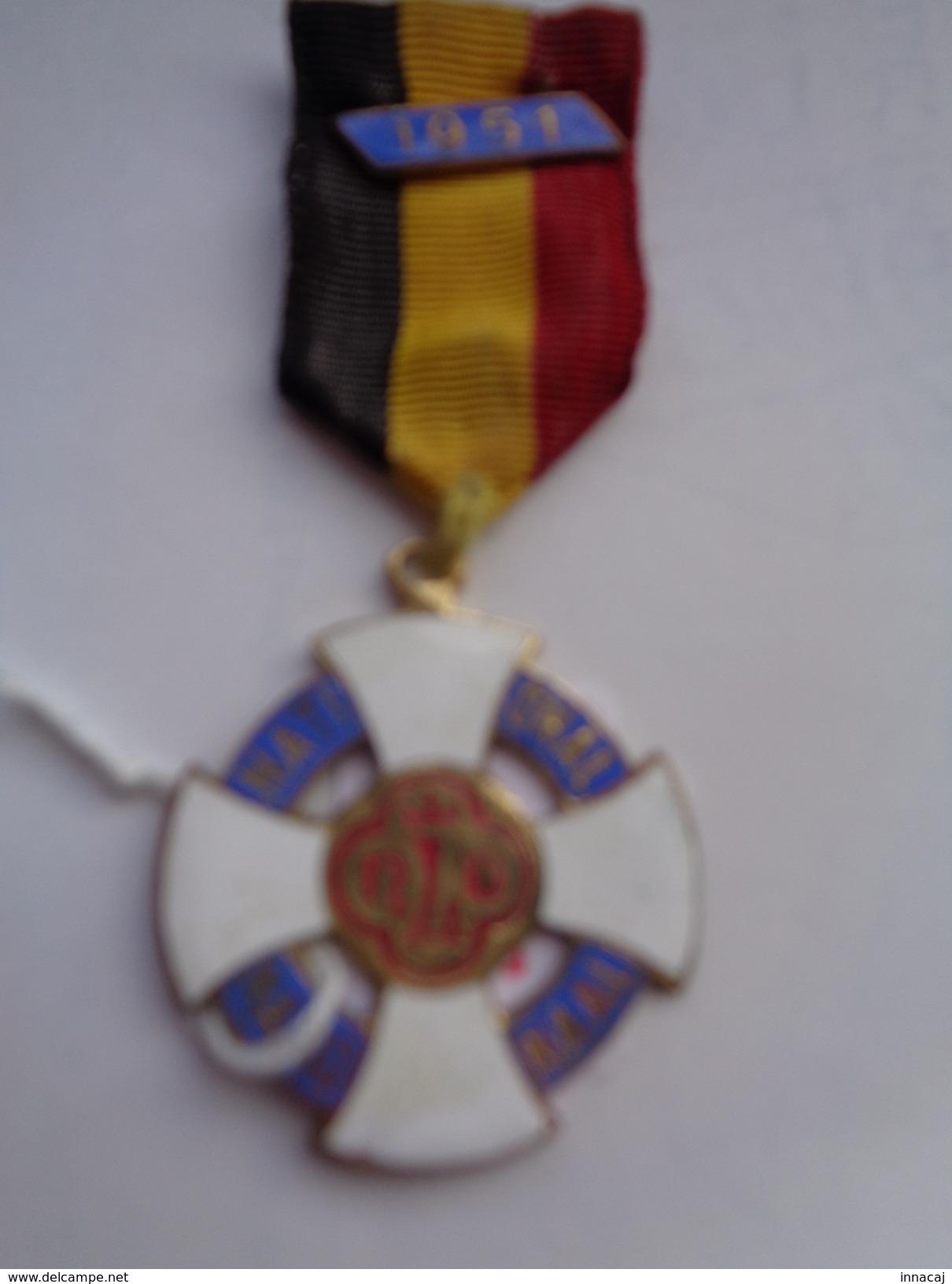 Réf: 98-16-116.            Médaille  !!!  NATIONAL   NATIONAAL   NLD  Ou  NLO  1951. - Religion & Esotérisme