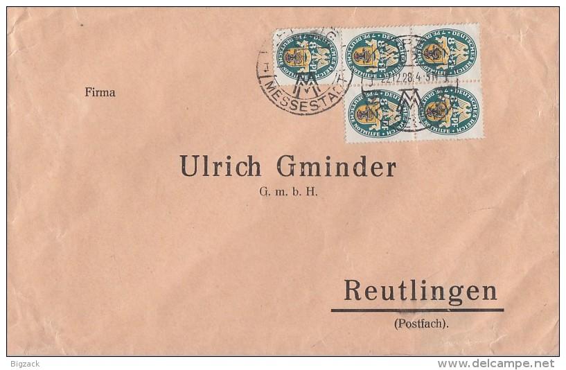 DR Brief Mef Minr.5x 426 Leipzig 22.12.28 - Deutschland