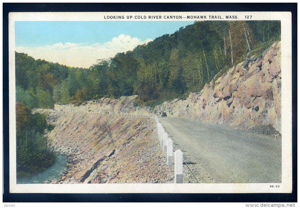 Cpa Etats Unis Massachusetts - Looking Up Cold River Canyon - Mohawk Trail JIP46 - Nantucket