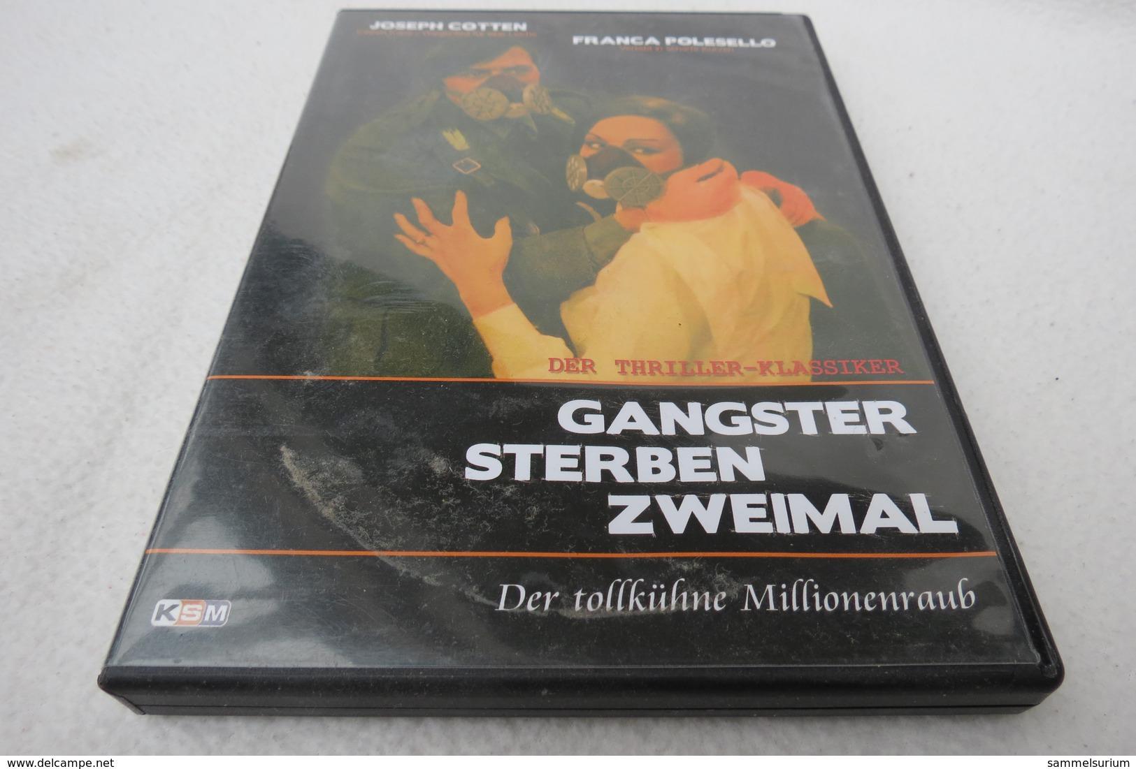 """DVD """"Gangster Sterben Zweimal"""" Der Tollkühne Millionenraub, Ein Thriller-Klassiker, Joseph Cotton, Franca Polesello - Musik-DVD's"""