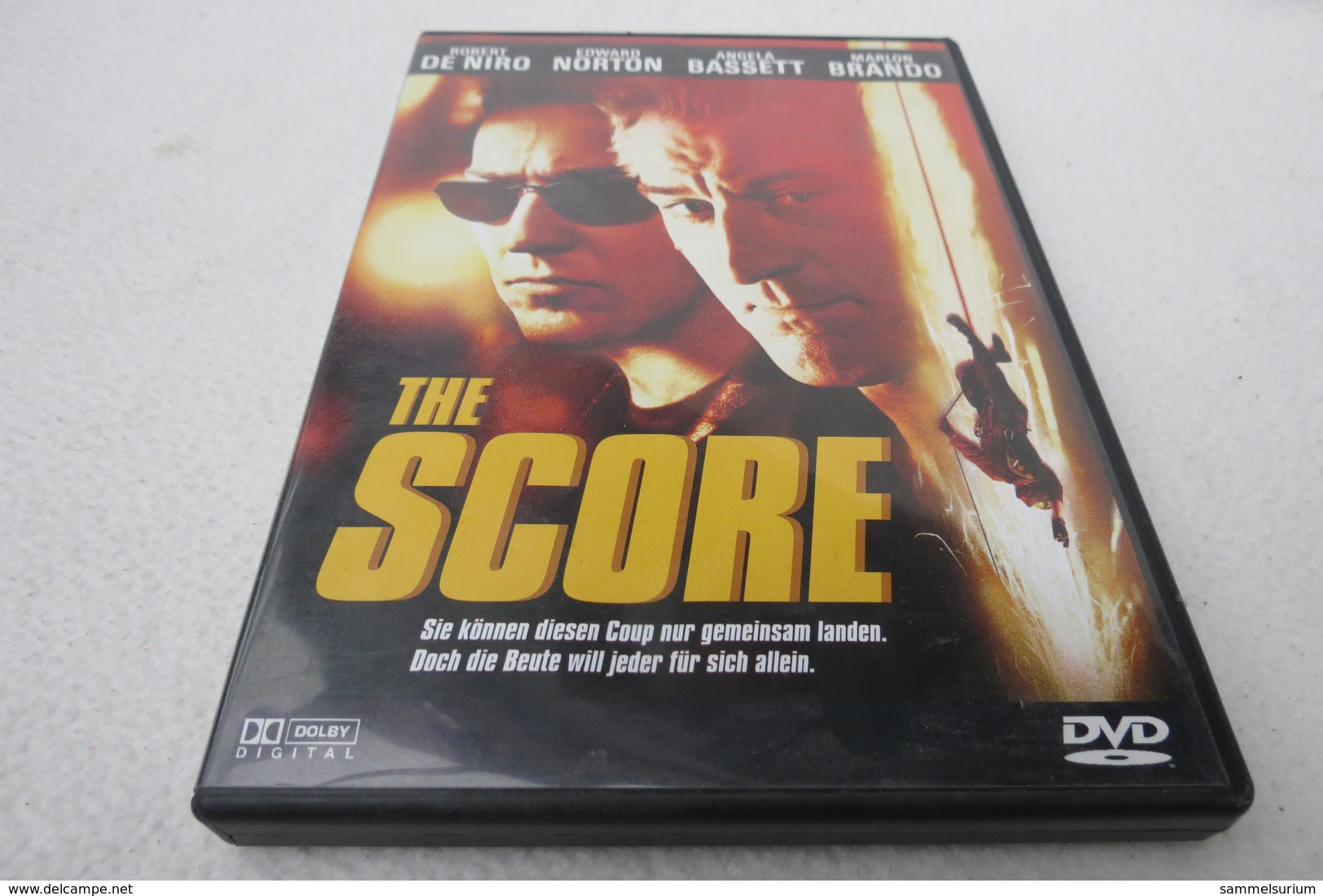 "DVD ""The Score"" Robert De Niro, Edward Norton, Angela Bassett, Marlon Brando - Musik-DVD's"