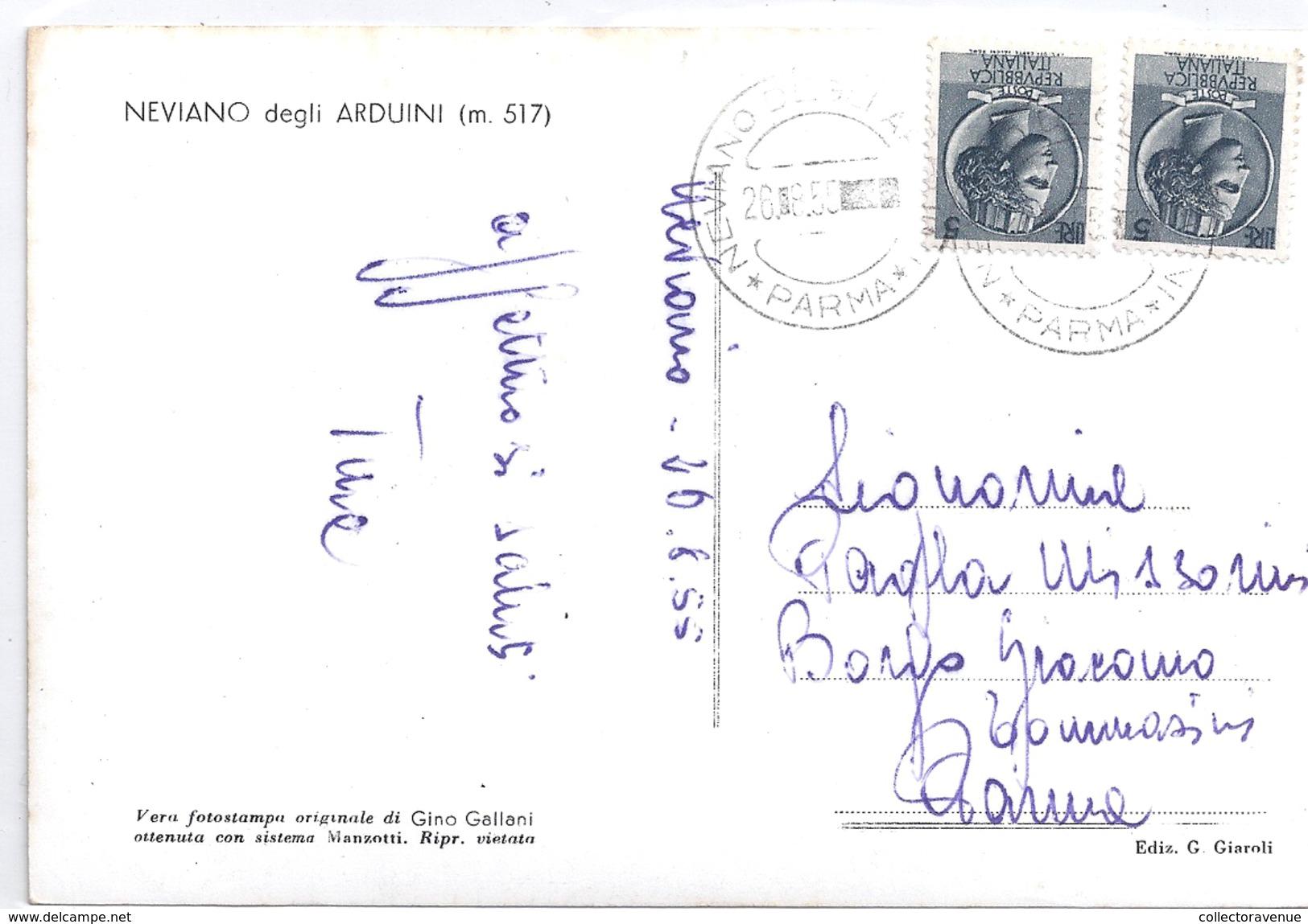 Cartolina - Postcard - Neviano Degli Arduini - Panorama - 1955 - Parma