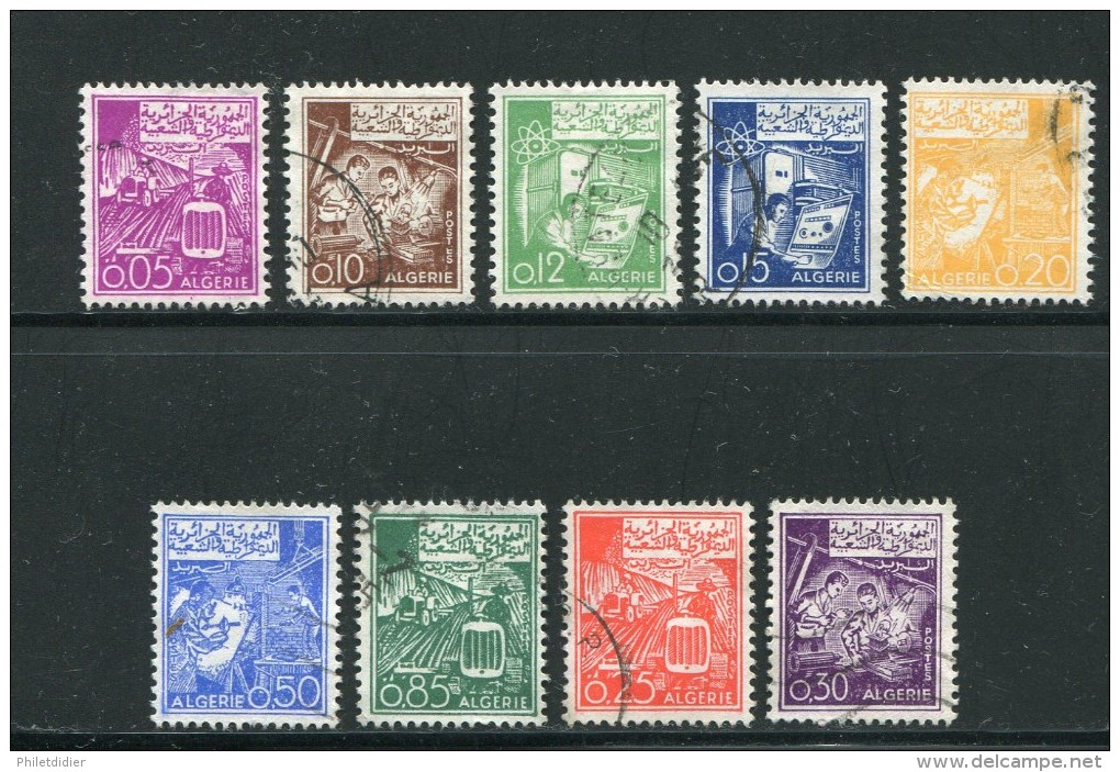 Algérie Divers Timbres Oblitérés De 1964-65 - Algeria (1962-...)
