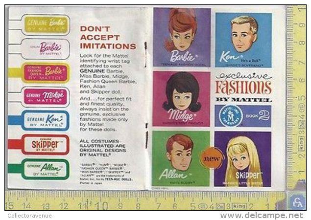 Book 2 1963 Exclusive Fashions By Mattel Booklet Barbie Ken Skipper Allan Midge - Barbie