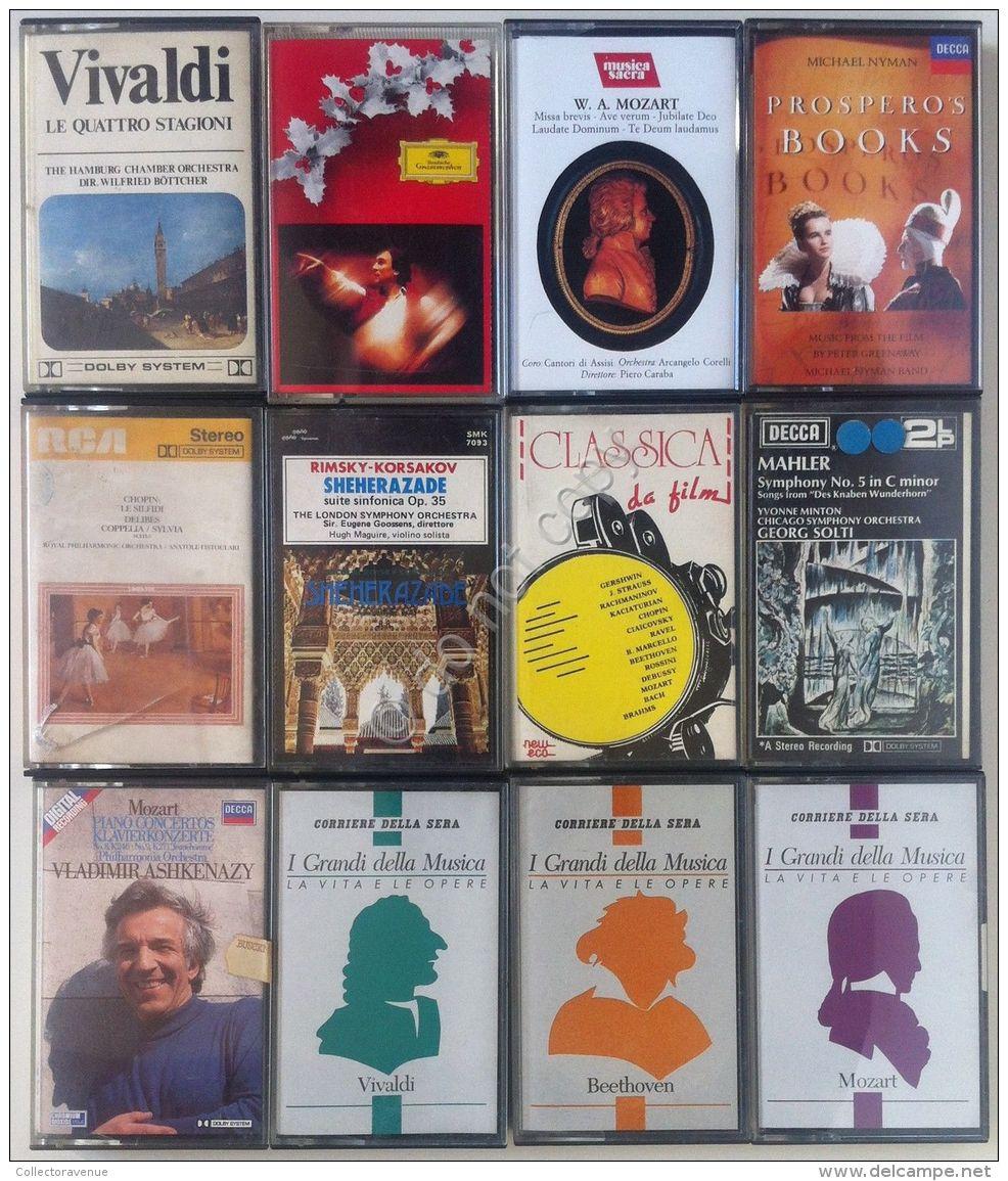 Musica Classica - Lotto Di 12 Cassette - 12 Cassette Lot - Non Classificati