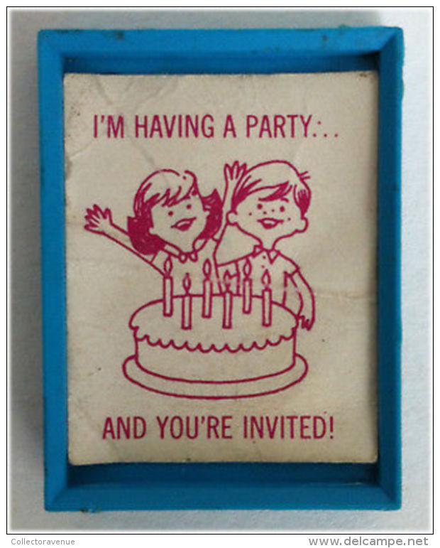 ORIGINAL BARBIE VINTAGE CLOTH -  #1919-Skipper Invitation Happy Birthday - 1965 - Barbie
