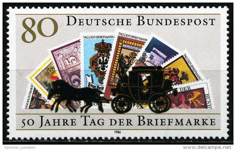 BRD - Mi 1300 - ** Postfrisch (A) - 80Pf  Tag Der Briefmarke 86 - BRD