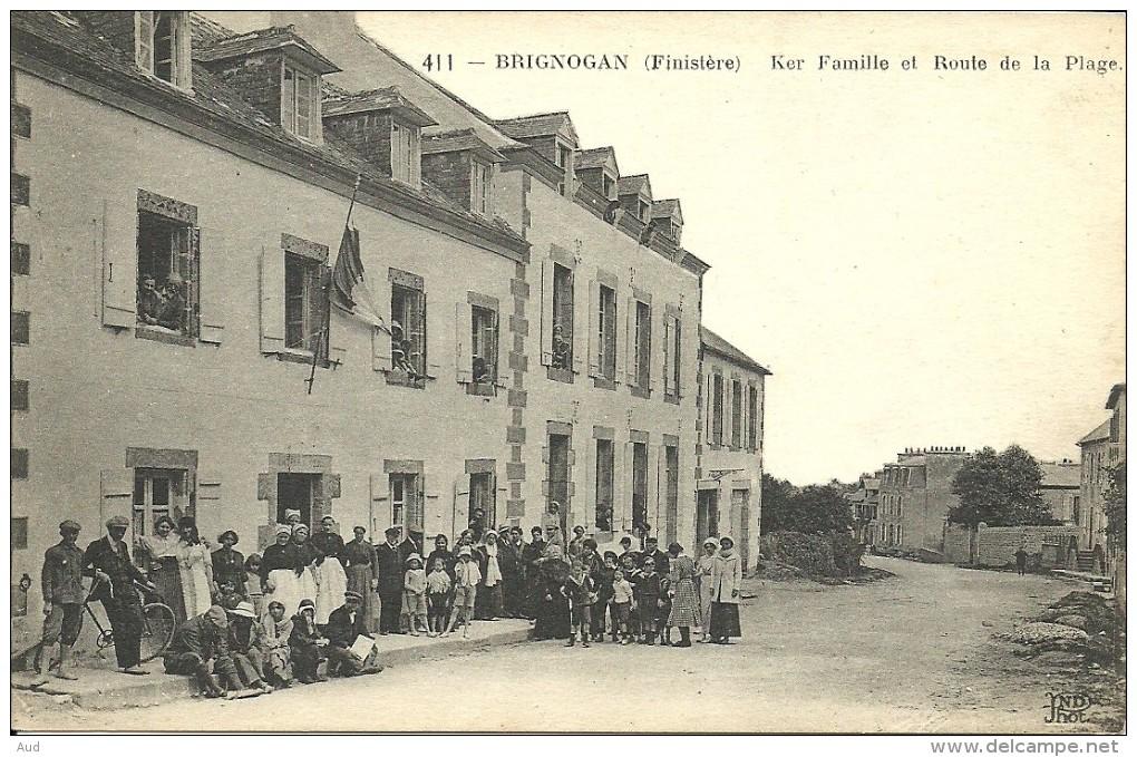 BRIGNOGAN, Ker Famille Et Route De La Plage - Brignogan-Plage