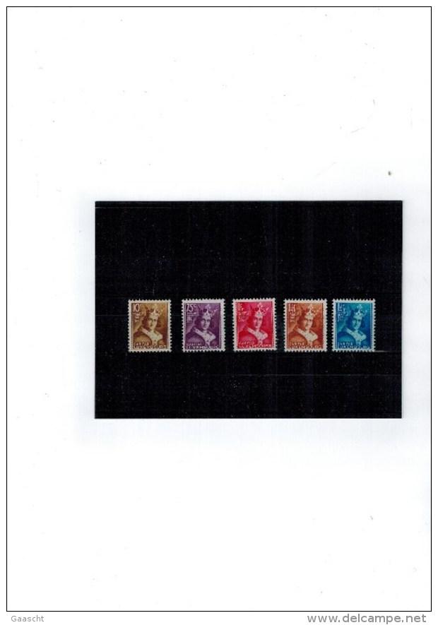 Luxembourg Serie Caritas De 1934 Henri VII Neuve Sans Charniere Prifix 160.- EUR - Luxemburgo