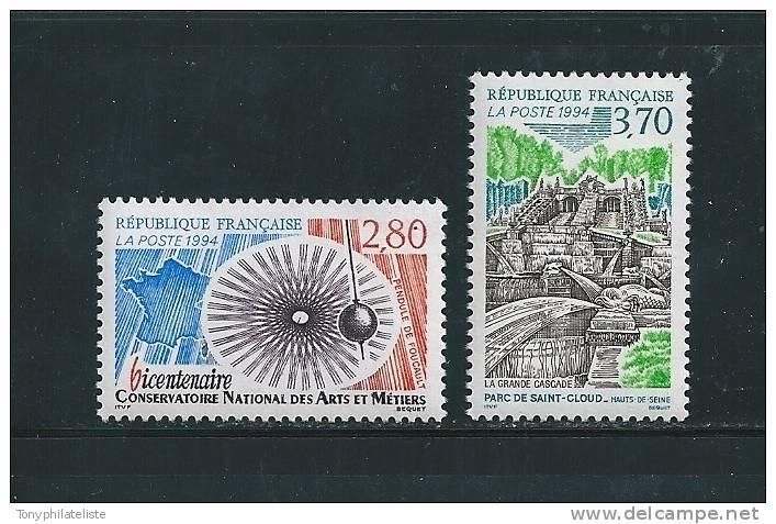 France  Timbre De 1994 N°2904 Et 2905  Neuf **prix De La Poste - Neufs