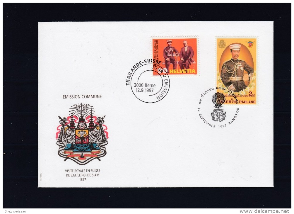 Schweiz MiNr. 1622 + Thailand MiNr. 1808 Schön Illustr. Ersttagsbrief / FDC - FDC